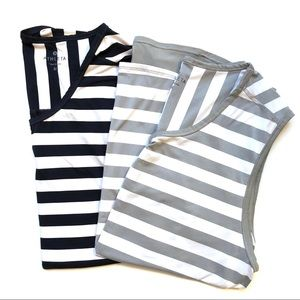 Athleta Bundle! Grey & Navy Striped Workout Tank